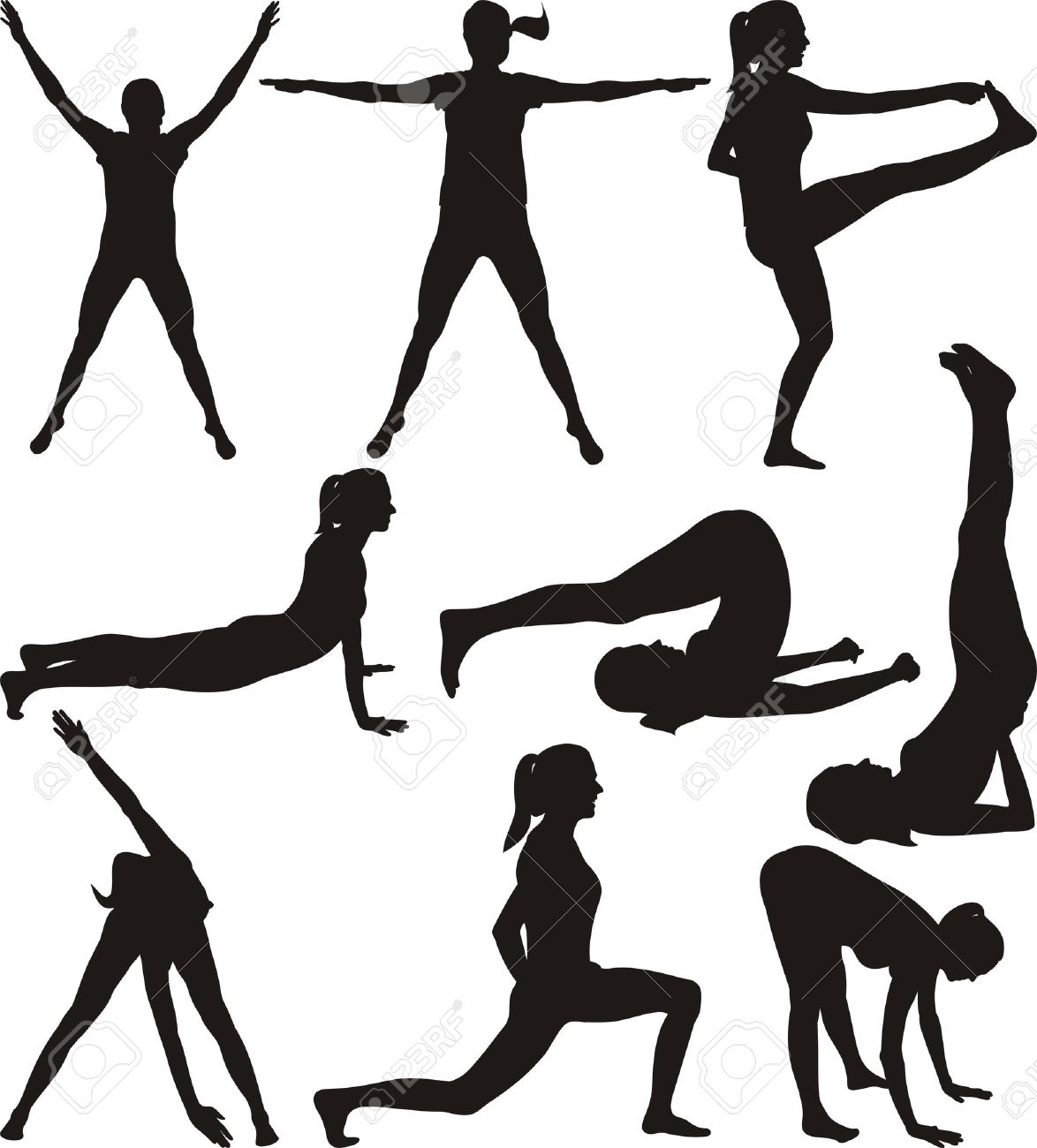 45,833 Female Fitness Cliparts, Stock Vector And Royalty Free.
