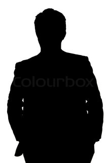 Silhouette of faceless guy in hoodie in the darkness, concepts of.