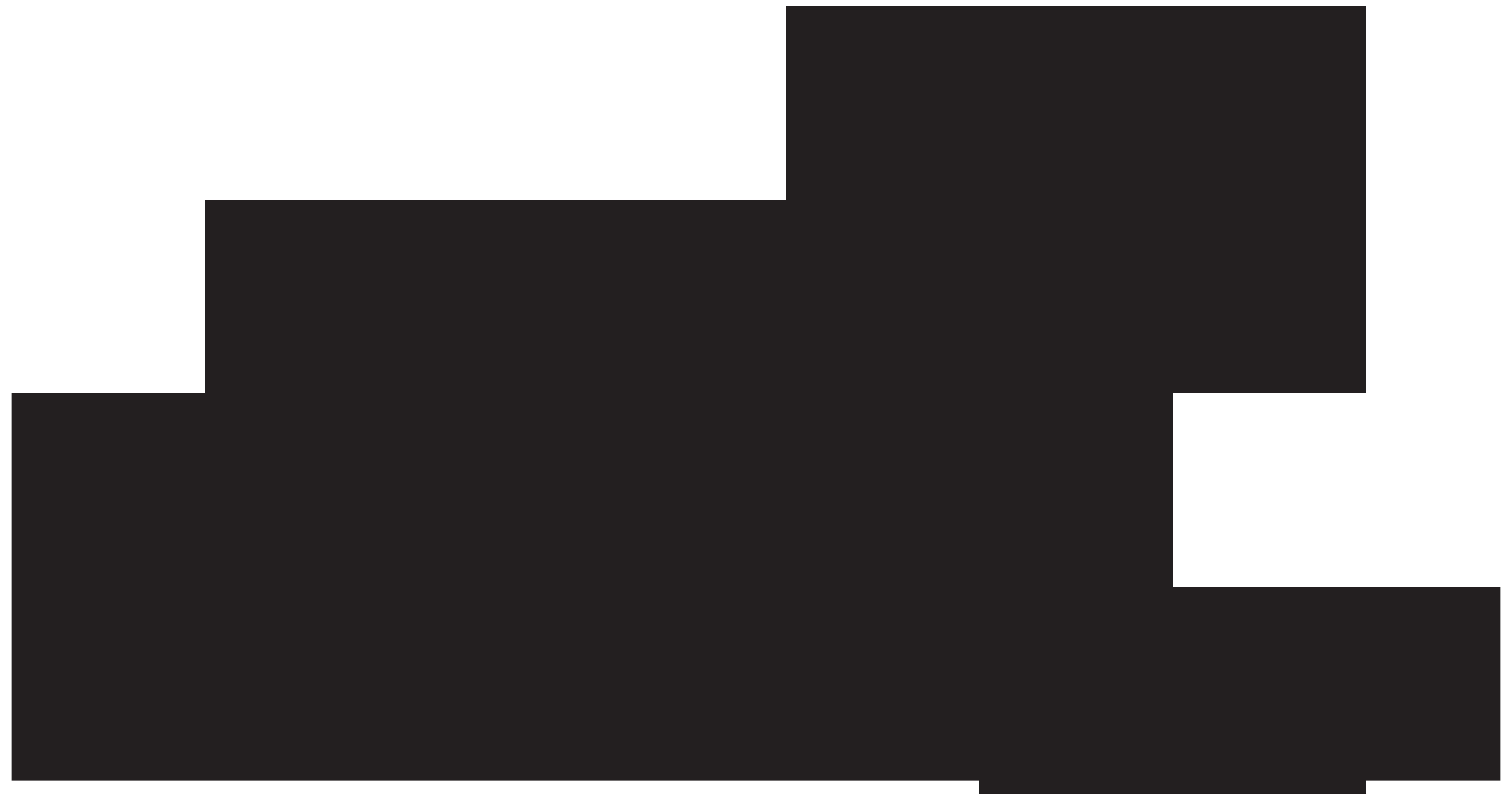 Nativity Scene Silhouette PNG Clip Art Image.