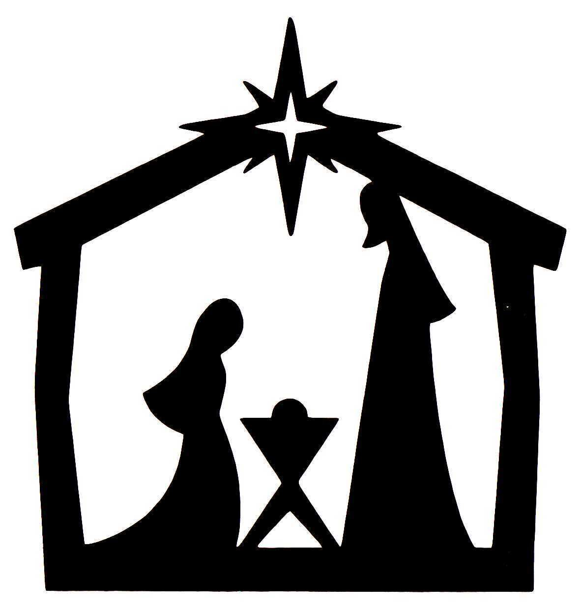 Nativity scene clipart silhouette 7 » Clipart Station.