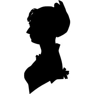 Lady Silhouette clip art.