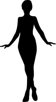 Exotic Woman Clipart Image: Woman Silhouette.