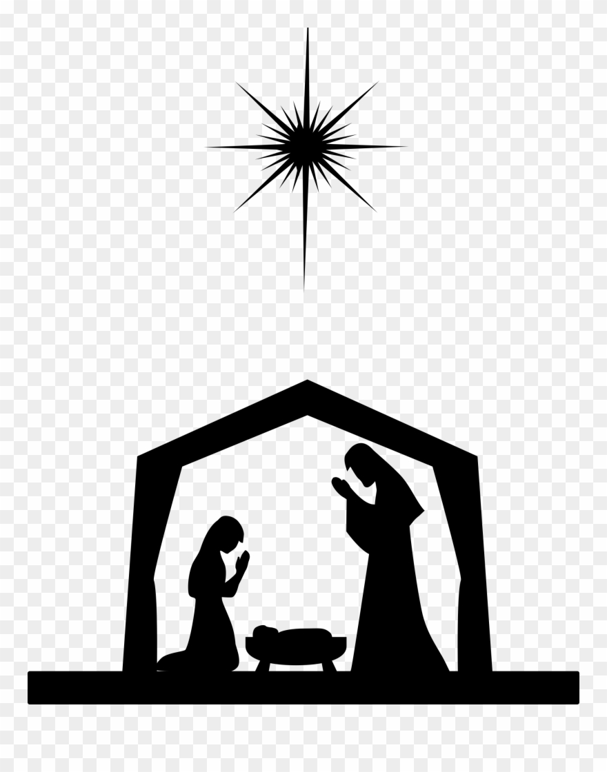 Nativity Scene Nativity Of Jesus Silhouette Christ.
