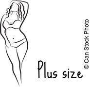 Plus size model Clipart Vector and Illustration. 120 Plus size.