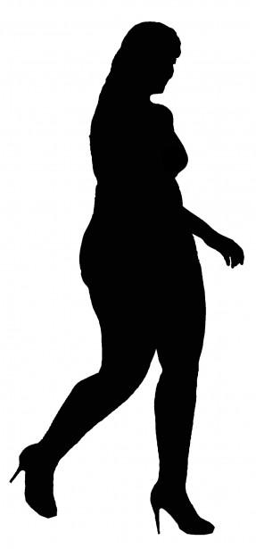 Plus Size Model Silhouette Free Stock Photo.