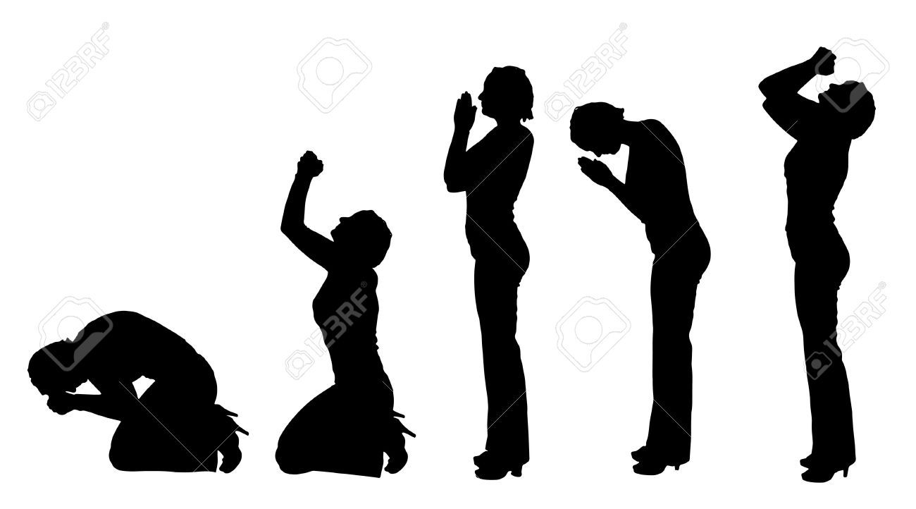 Woman Praying Hands Cliparts, Stock Vector And Royalty Free.