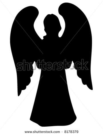 Angel silhouette clip art. Download free versions of the image in.