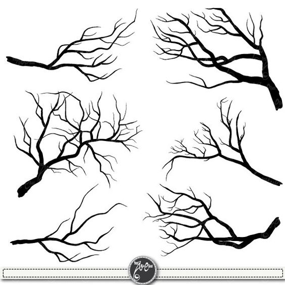 "Branch Silhouettes Clipart""BRANCH SILHOUETTES"" clip art pack,Tree."