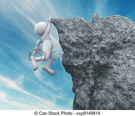 Stock Illustration of Cliff Hanger.