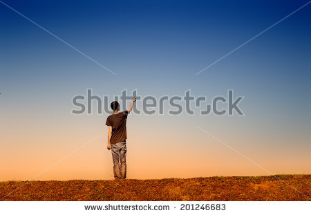 Young Silhouette Isolated Man Flying Kite Stock Photo 83623588.