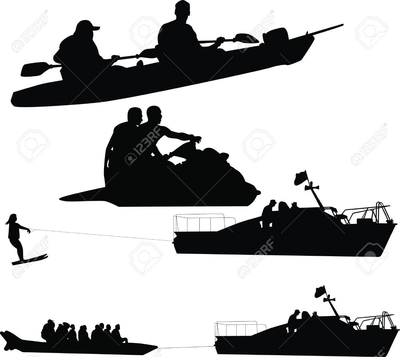 People Have Rest Water Sea Man Boat Oar Fishing Rest Sports Boat.