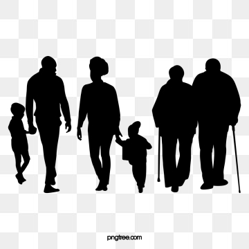Silhouette Family PNG Images.