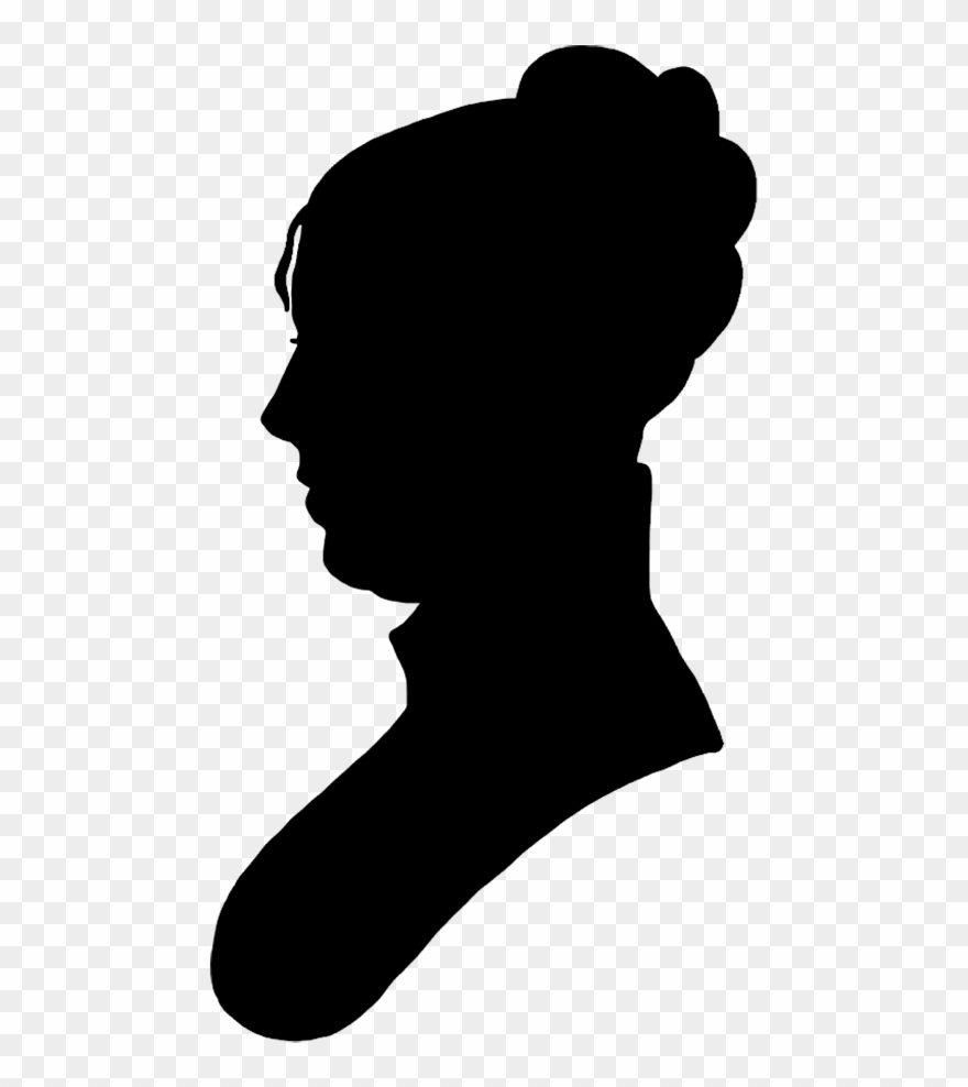 Face Silhouette Woman Black.