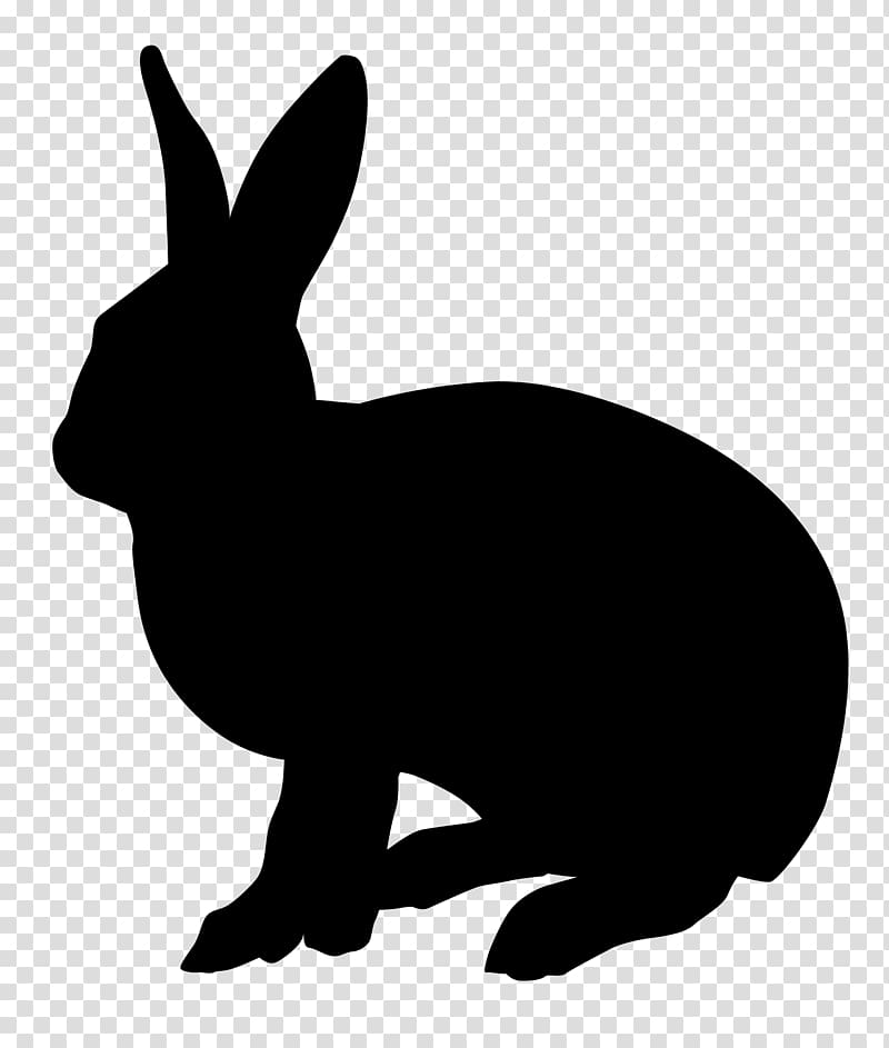 Rabbit Silhouette , rabbit transparent background PNG.