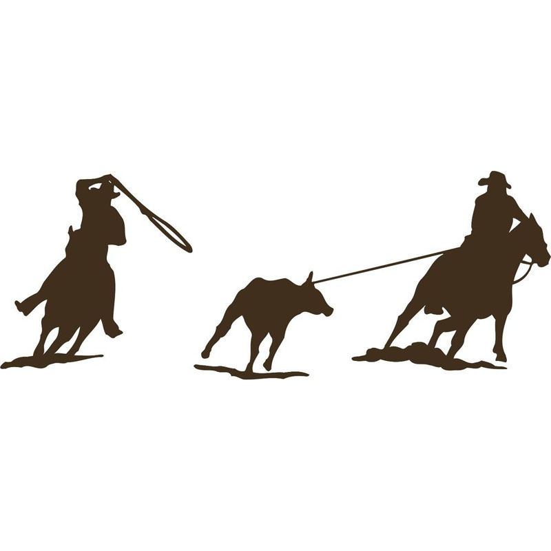 silhouette ropers clipart clipground Team Roping Drawings Team Roping Cartoon