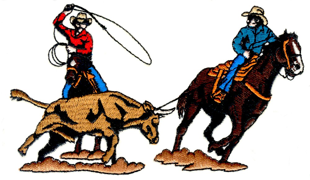 Team Roping Silhouette Clipart.