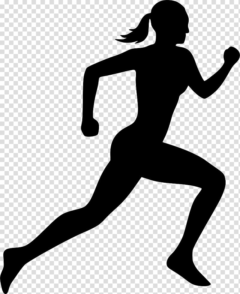 Silhouette Running , Silhouette transparent background PNG.