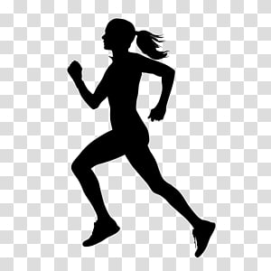 Silhouette of woman illustration, Sport Running Silhouette.