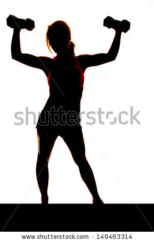 Weight Silhouette Stock Images, Royalty.