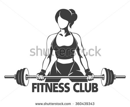Fit Free Girl Lifting Weights Stock Images, Royalty.