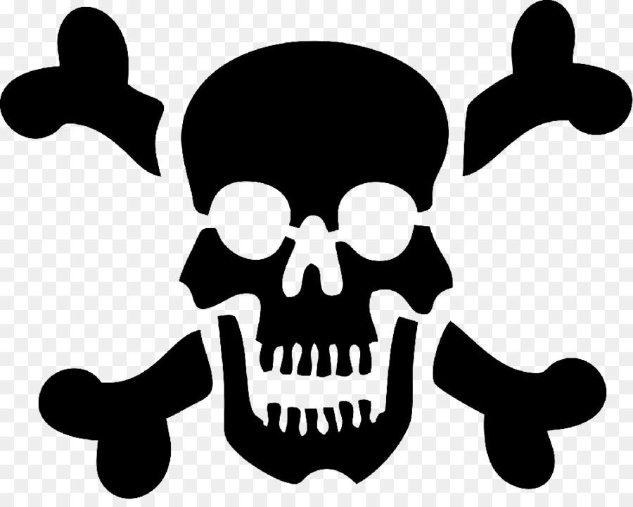 Skull Silhouette clipart.