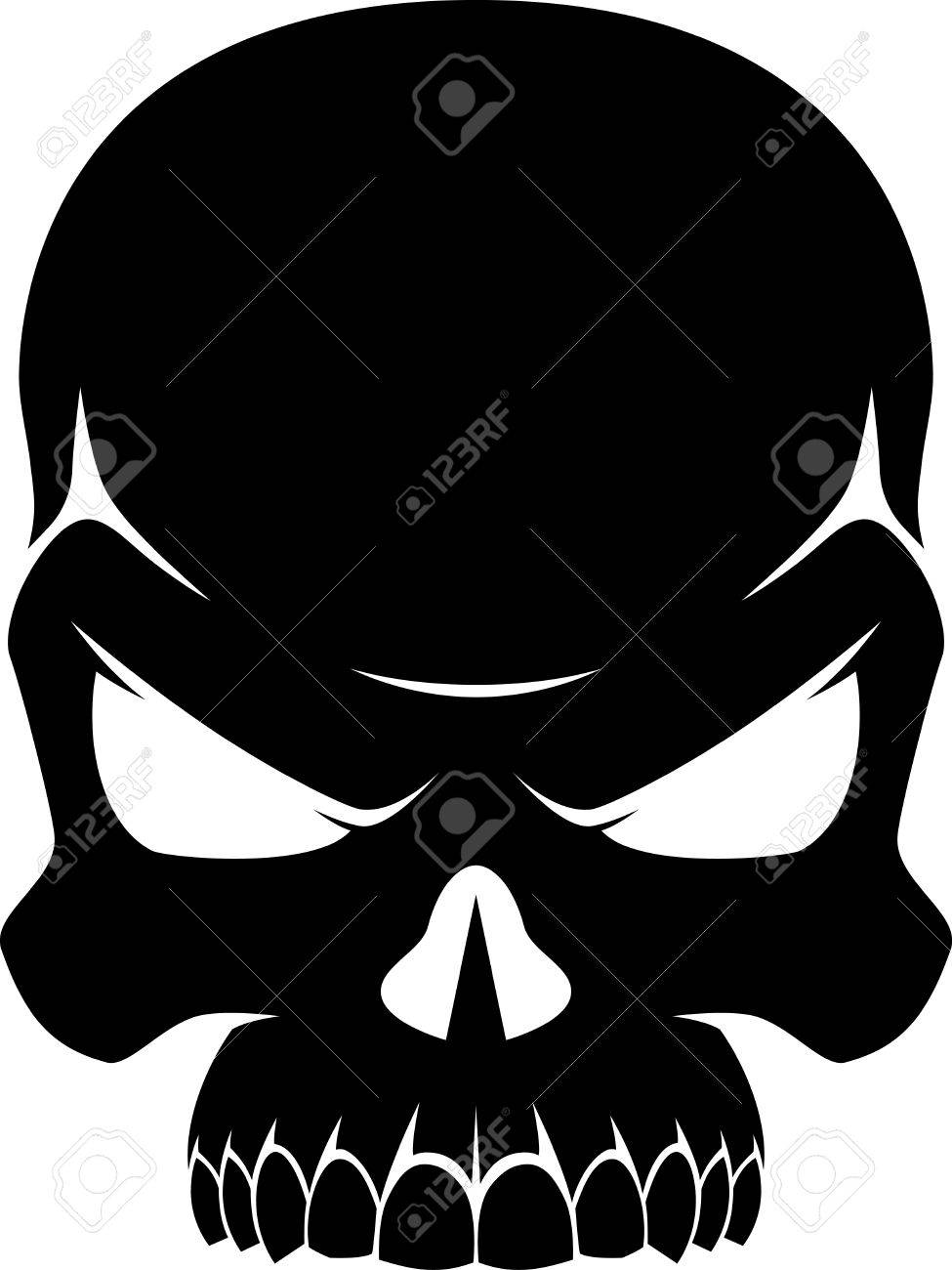 Silhouette Of A Skull.