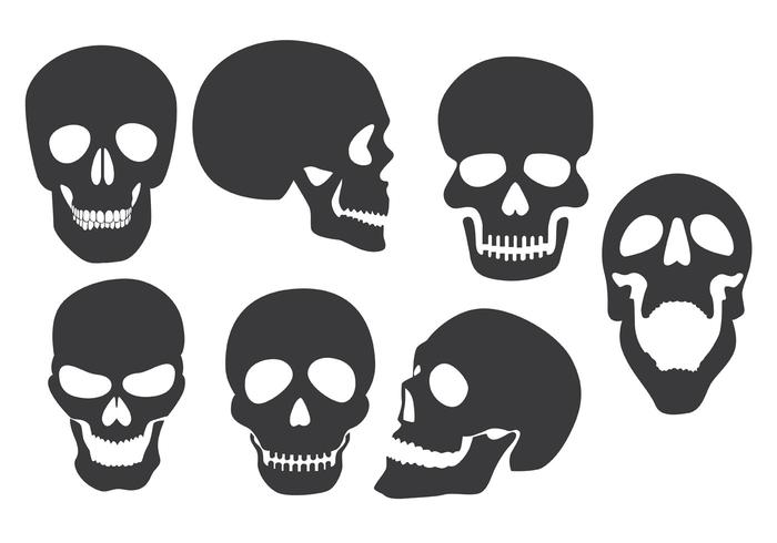 Skull Silhouette Vectors.