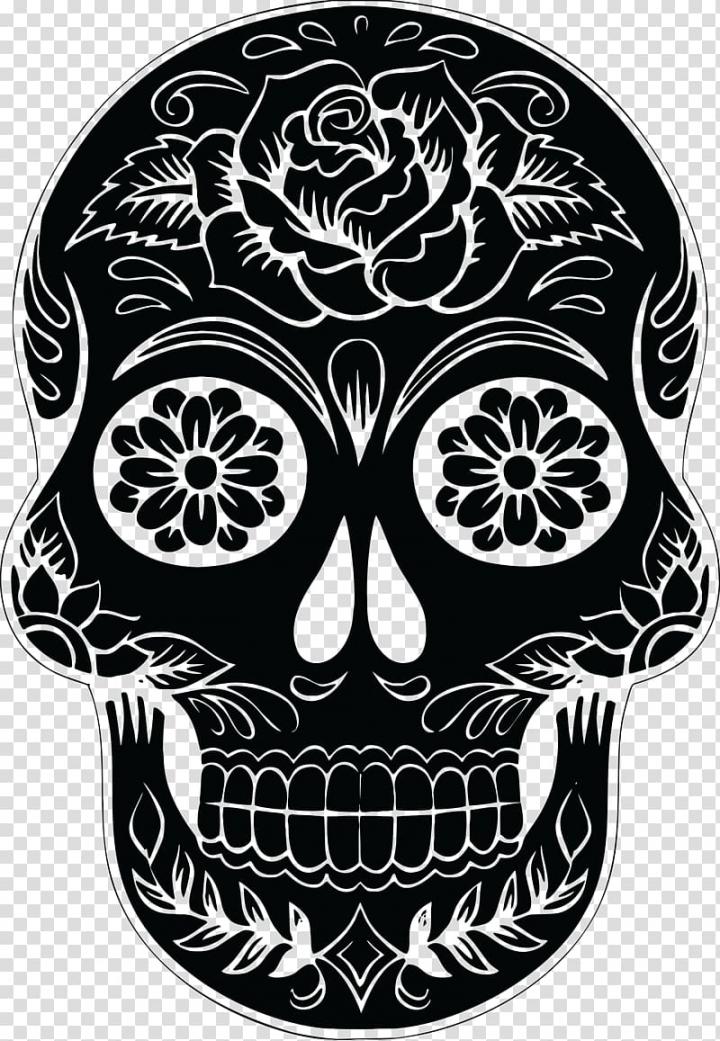Black calavera , Calavera Skull Silhouette , skulls.