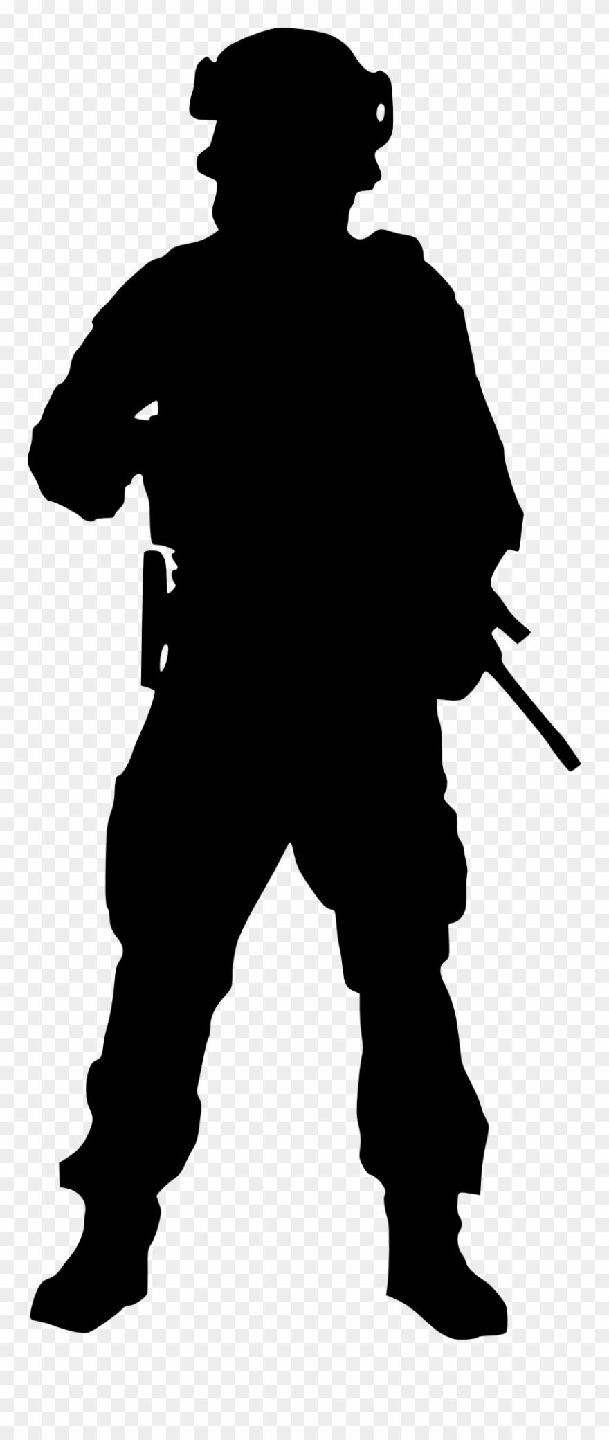 Running Soldier Silhouette.