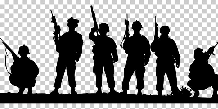 Soldier Silhouette Military , soldiers PNG clipart.