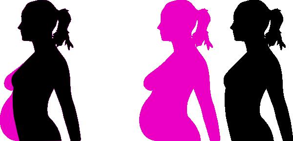 Pregnancy Silhouette 5 Clip Art at Clker.com.