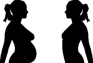 Pregnancy Silhouette Clip Art at Clker.com.