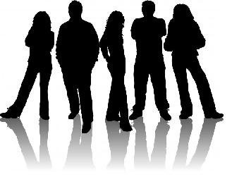 Youth Silhouette Clip Art.