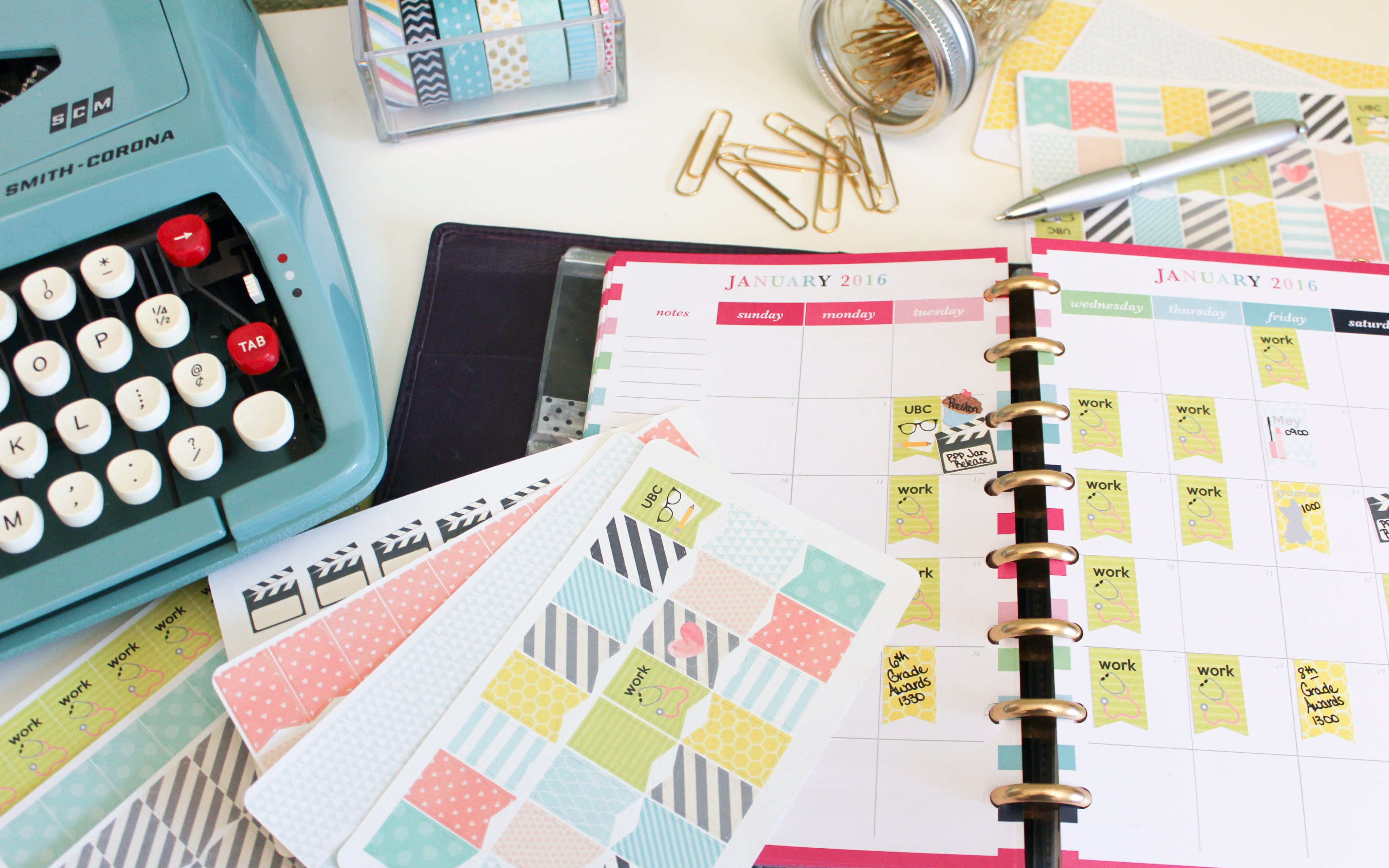 Create Your Own Planner Stickers Silhouette Cameo Tutorial.