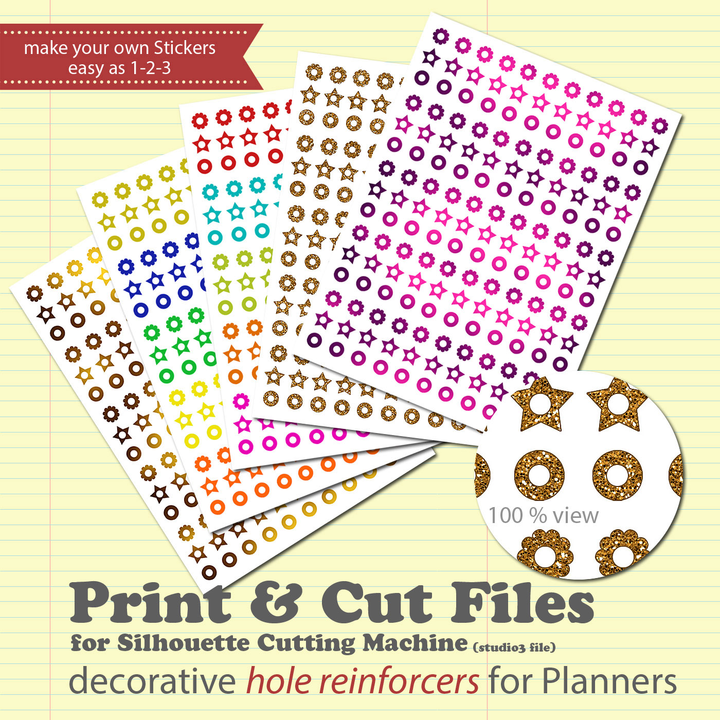 Free Download: DIY Planner Sticker Print & Cut File for Silhouette.