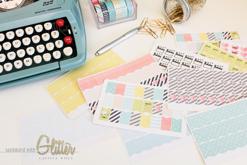 Sprinkled With Glitter: Create Your Own Custom Planner Stickers.