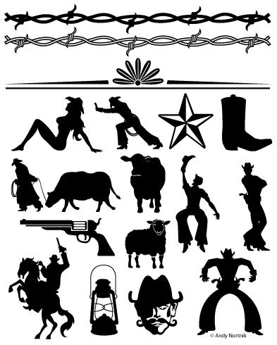 Western Clip Art Western Clipart Personal and Commercial Use.