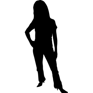 Female Silhouette Clipart.