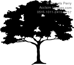 Silhouette Of Trees Clip Art.