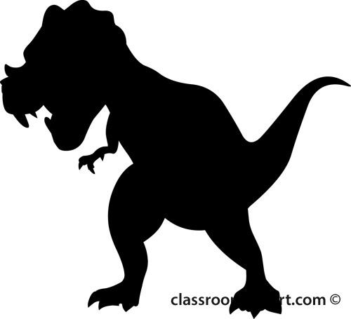 dinosaur clipart silhouette #15