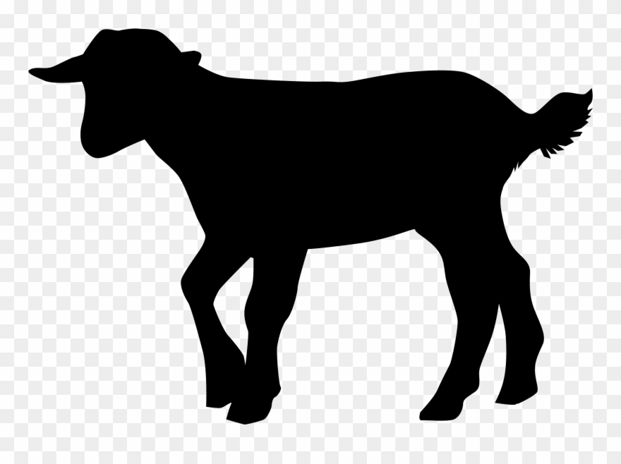 Nubian Dairy Goat Silhouettes Clipart.