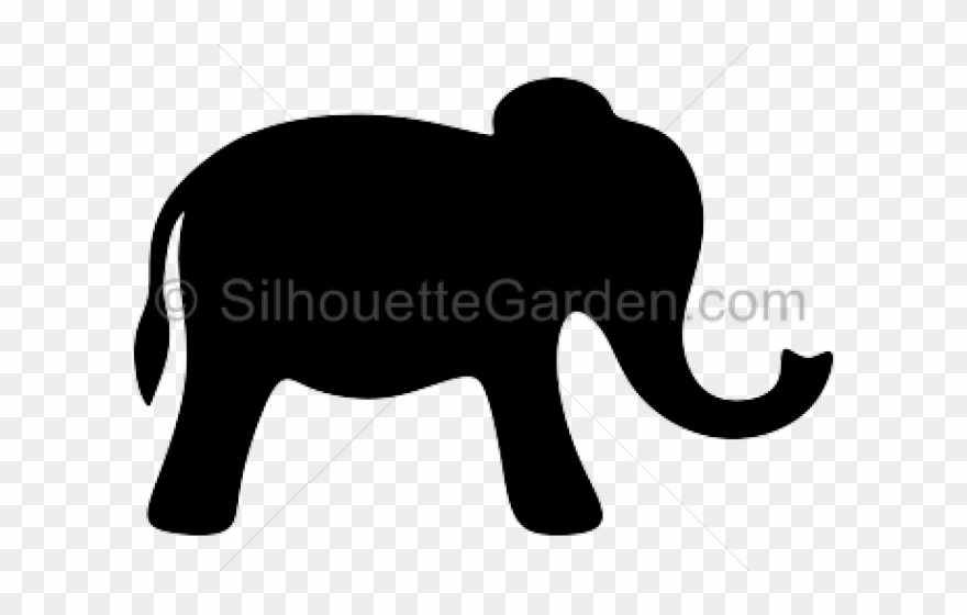 Silhouettes Clipart Elephant.