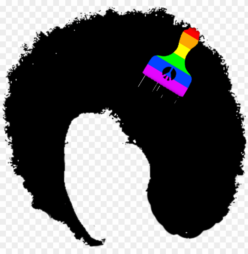 afro hair png clipart.