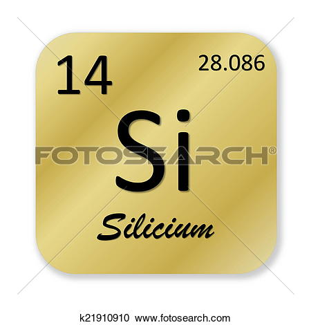 Stock Illustrations of Silicon element, french silicium k21910910.