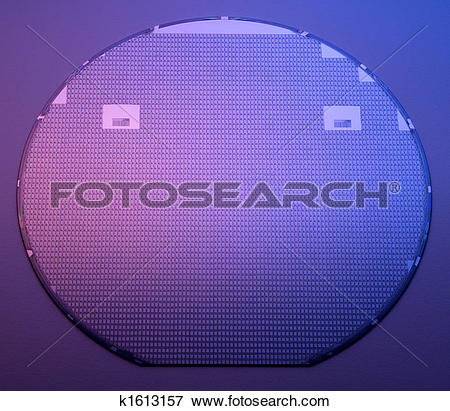 Stock Illustration of Silicon wafer k1613157.