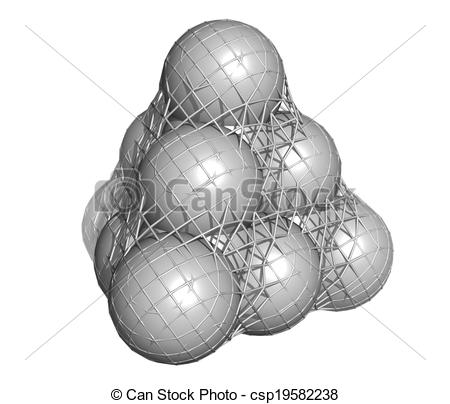 Drawings of Pure silicon (Si, silicium), crystal structure. Main.