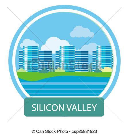 Vector Clipart of Isometry Silicon Valley.