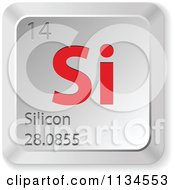 Clipart of 3d Silver Heart Music Note Keyboard Button Icons.