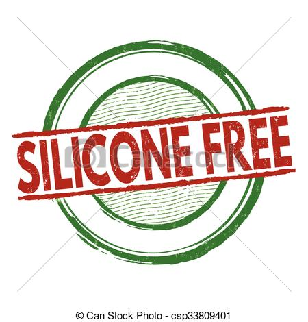 Vector Clipart of Silicone free stamp.