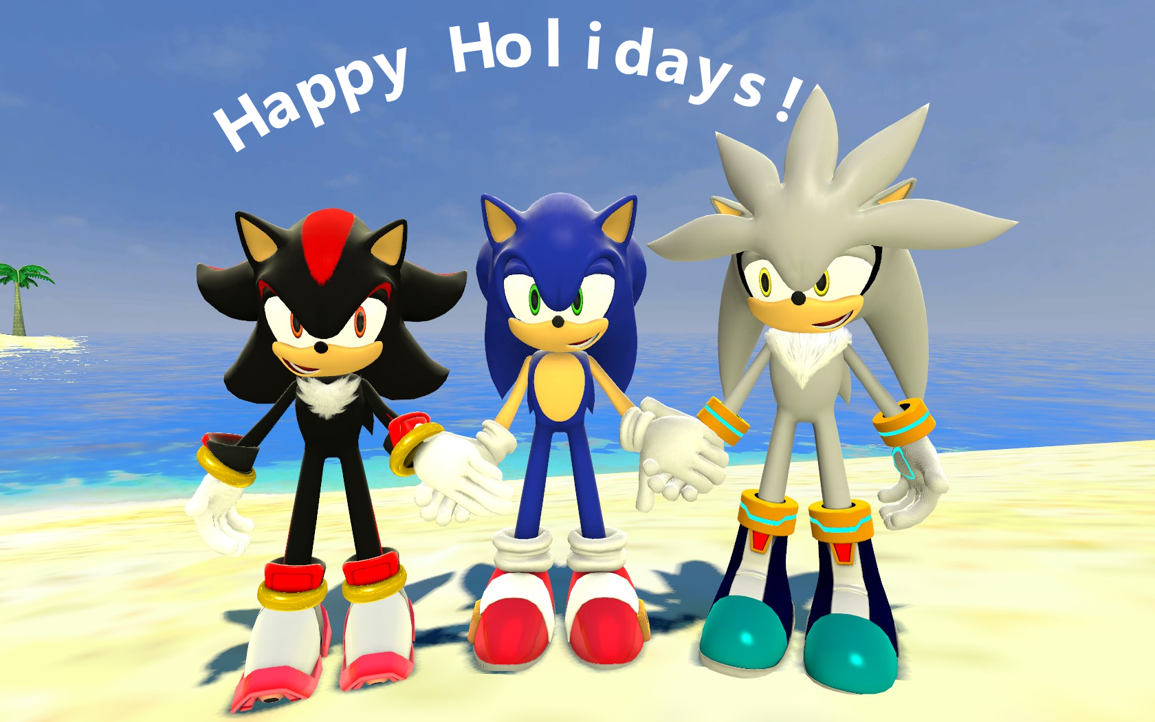 Shadow, Sonic and Silver goes on vacation by SRX1995 on DeviantArt.
